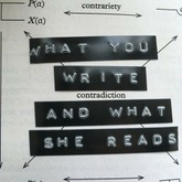 What You Write And What She Reads